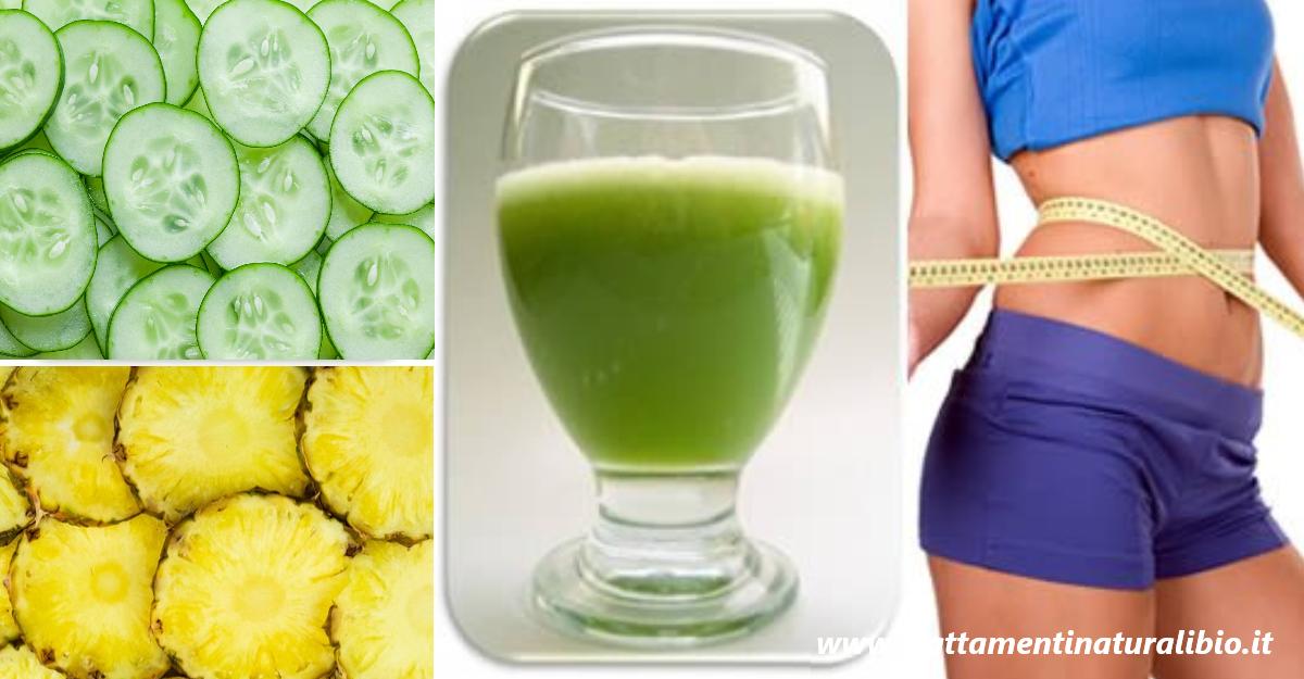 Il frullato di ananas e cetriolo che depura il colon e fa perdere peso in 7 giorni