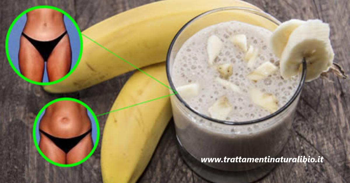 Il frullato di banana e zenzero che brucia tutto il grasso addominale
