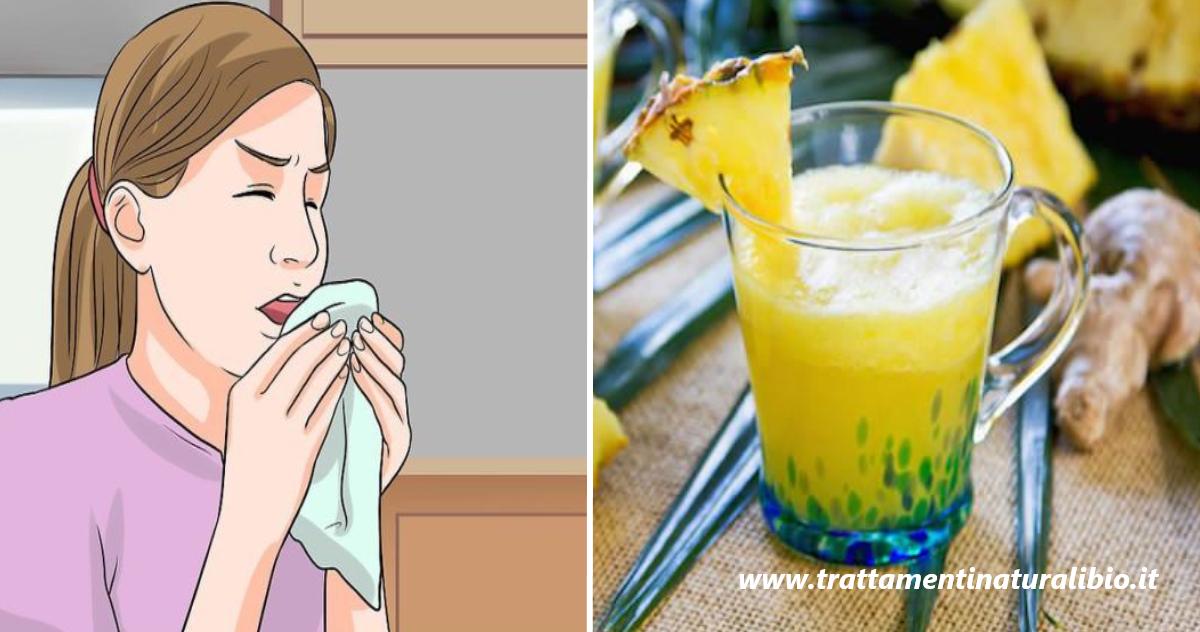 Sciroppo di zenzero e ananas per curare la tosse in pochi minuti