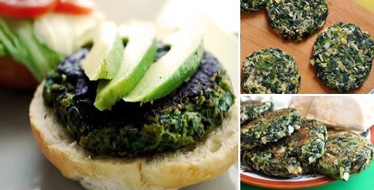 Hamburger di spinaci gustosi e facili da preparare, adatti alla dieta