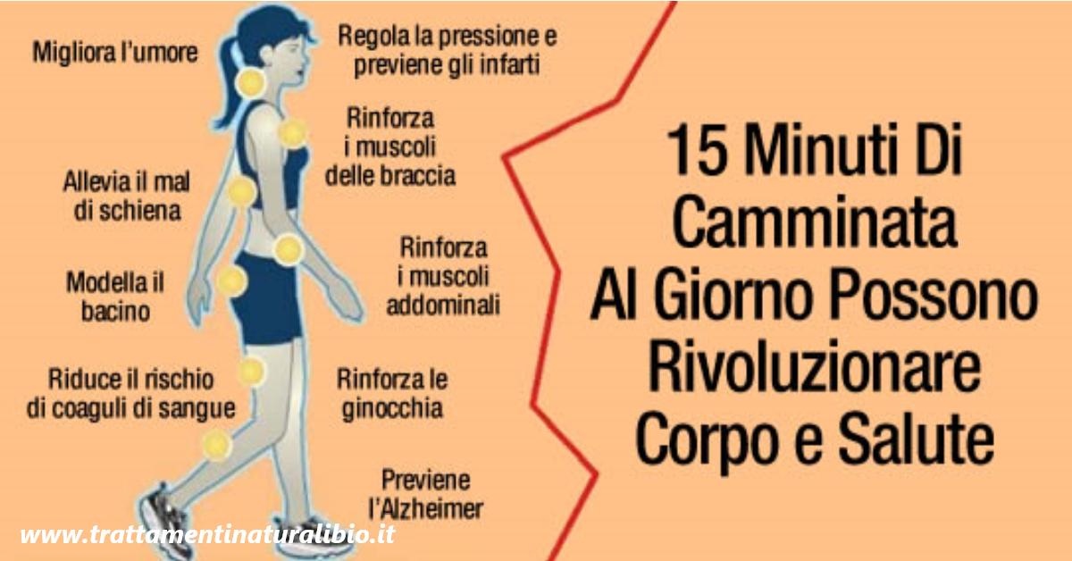 Camminare per 15 minuti al giorno può cambiare completamente salute e fisico