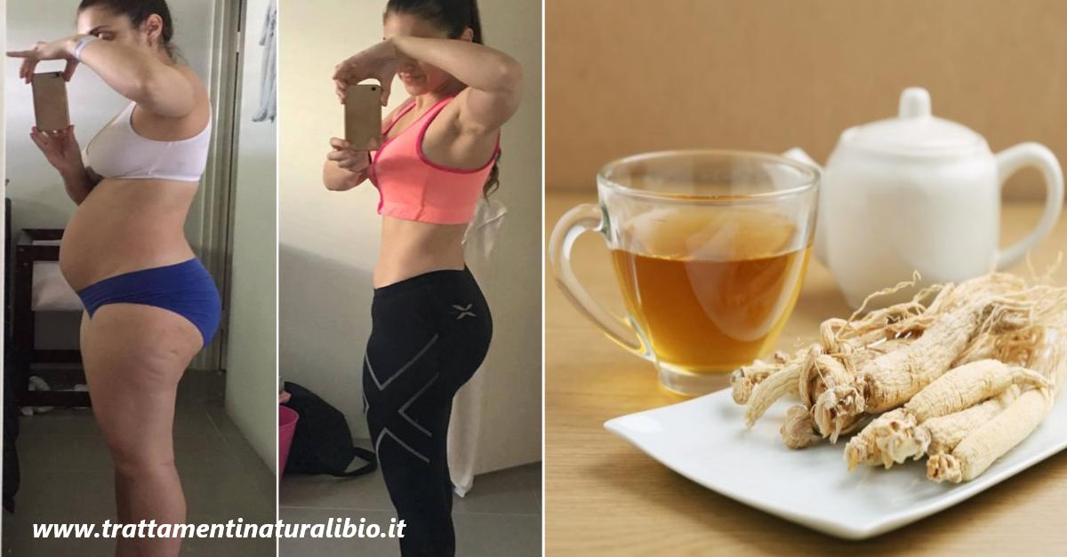 Come perdere 4 chili a settimana con la tisana al Ginseng