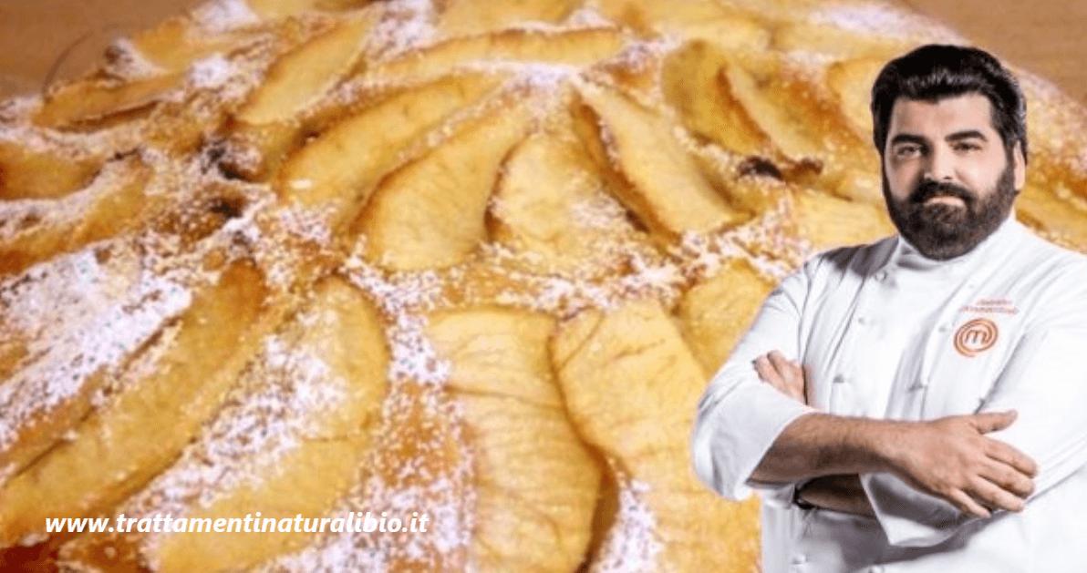 Ricetta torta di mele e yogurt: sana, gustosa e leggera. Ecco il segreto di Antonino Cannavacciuolo
