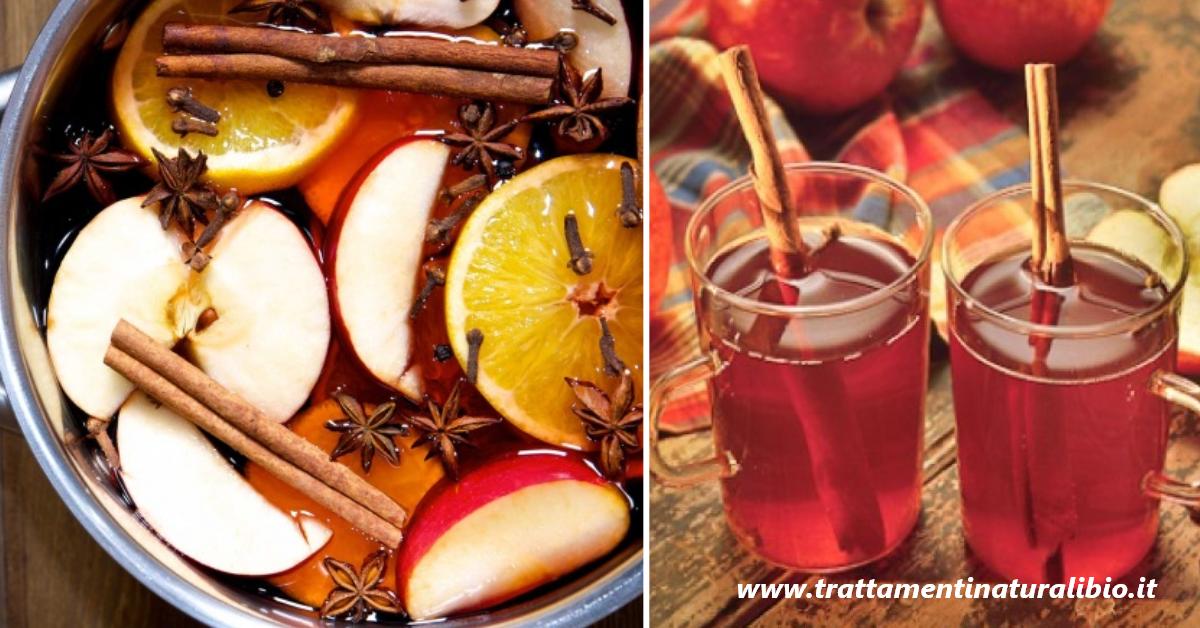 Tisana ai chiodi di garofano, mela e cannella: antisettica, antibatterica, spasmolitica ed antispasmodica