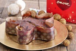 Torta Natalizia al cioccolato fondente: gustosa e sana, senza burro e senza uova, facile da preparare