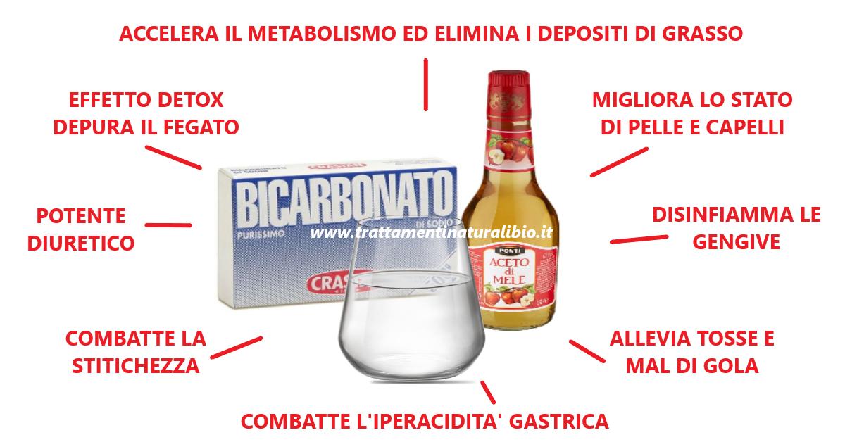 Aceto di mele e bicarbonato: eccellente combinazione curativa. Ecco tutti i benefici