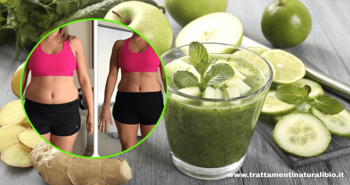 Il frullato verde che brucia il grasso dell'addome