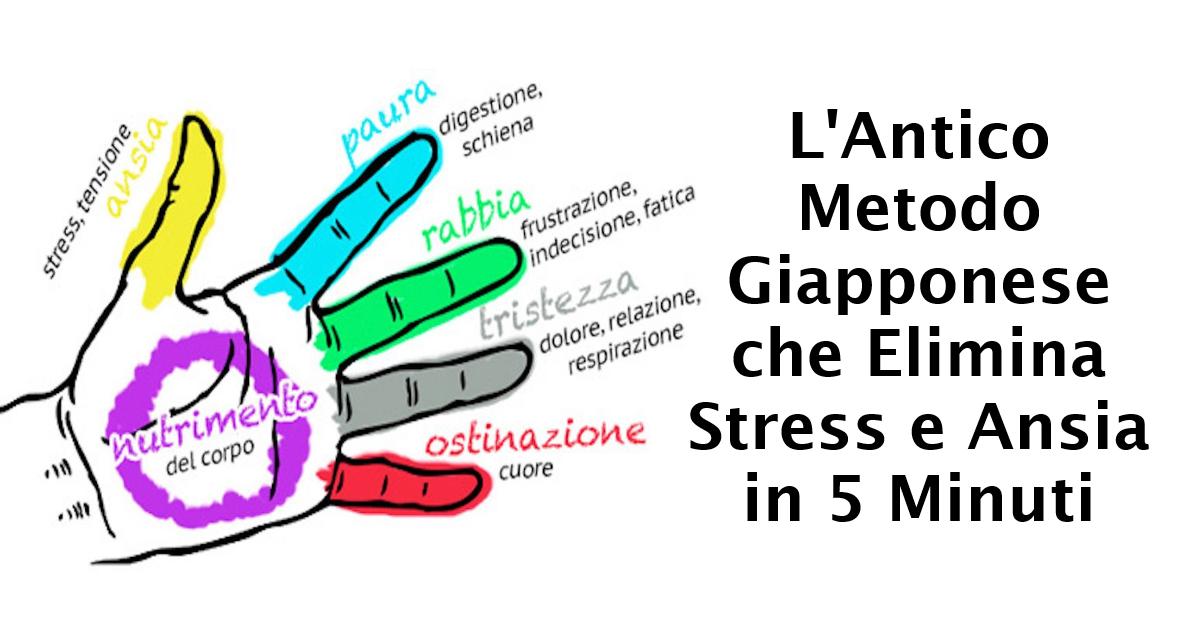 L'antico metodo Giapponese che elimina stress e ansia in 5 minuti