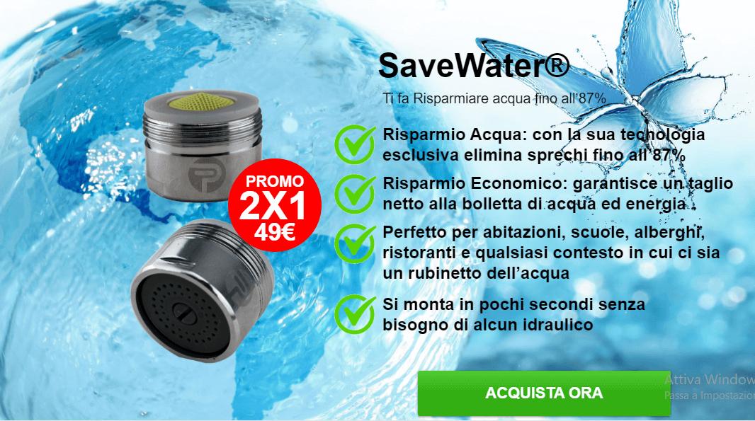 SaveWater risparmio acqua: Funziona? Opinioni, recensioni e prezzo