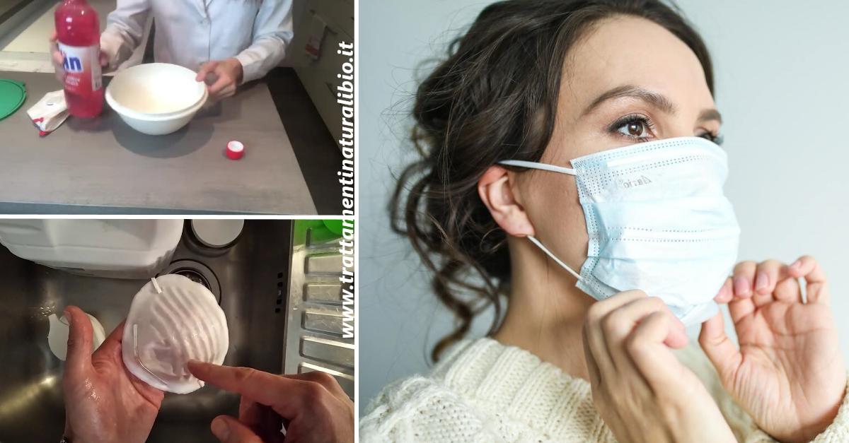Come disinfettare e riutilizzare la mascherina in stoffa e con filtri