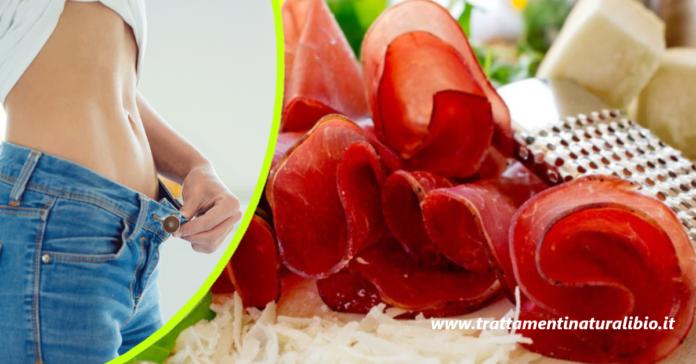 Come perdere una taglia con la dieta della bresaola: menu tipo