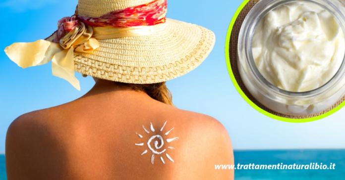 Crema doposole fai da te per idratare la pelle e mantenere l'abbronzatura
