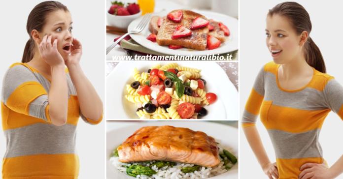 La dieta dei 6 giorni per perdere 5 chili velocemente. Menu completo