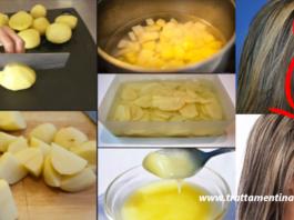 La ricetta segreta dell'acqua di patata che favorisce la crescita dei capelli