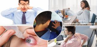 Smart working e didattica a distanza: aumento di mal di schiena e vista offuscata