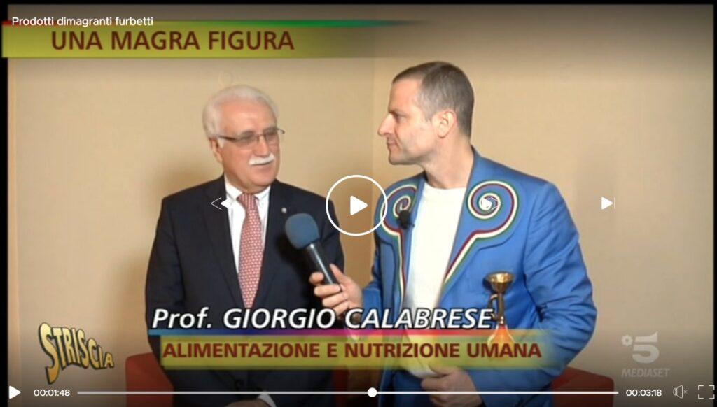 Striscia la notizia dottor Calabrese e la truffa dei prodotti dimagranti