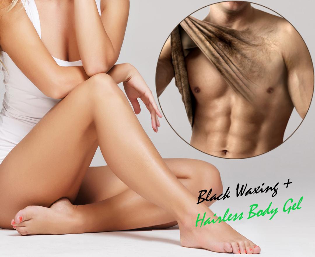 Black Waxing + Hairless Body Gel depilazione perfetta