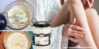 Crema idratante corpo all'olio di cocco azione levigante e protettiva