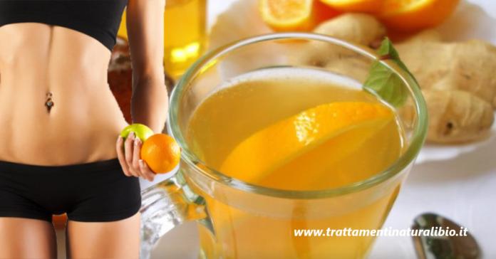 Digestiva e drenante la tisana di zenzero e arancia aiuta a perdere 4 kg velocemente