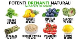 15 alimenti super drenanti per combattere ritenzione idrica e gonfiore